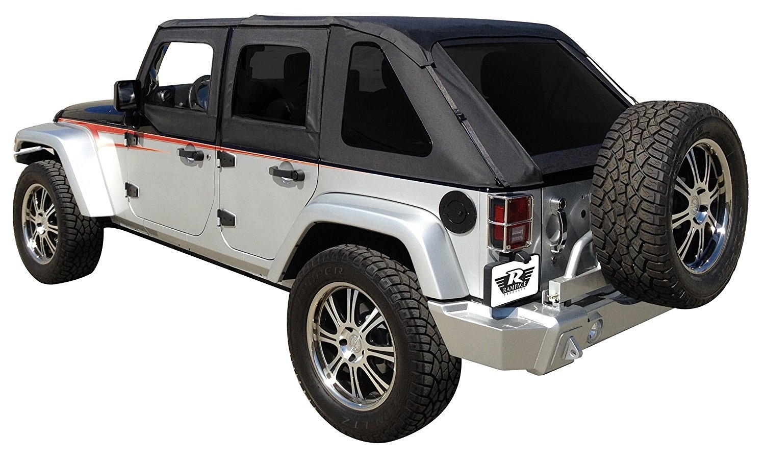 black jeep wrangler 4 door soft top the image kid has it. Black Bedroom Furniture Sets. Home Design Ideas